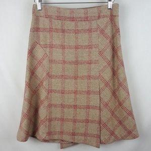 Banana Republic Wool Blend  Plaid Skirt